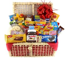 Mom Birthday, Birthday Gifts, Chocolates, Diy Presents, Nutella, Oreo, Basket, Snacks, Food