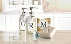 Personalize any gift with a Monogramed Soap from Gianna Rose's Monogram Collection. Available in letters A, B, C, D, E, G, H, I, J, K, L, M, N, P, R, S, T, V, W and Y.