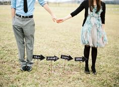 photos by Gabe Aceves; styled by Atrendy Wedding Engagement Outfits, Engagement Couple, Engagement Photos, Wedding Couples, Wedding Photos, Wedding Ideas, Stephanie Adams, Cute Signs, Proposal Ideas