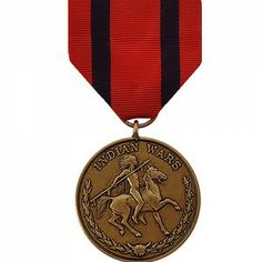 The Indian Campaign Medal is an decoration presented to any soldier of the United States Army who participated in one of the authorized military campaigns against Native Americans between 1865 - 1891.