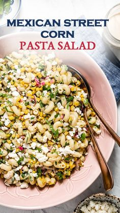 Mexican Street Corn Pasta Salad Corn Pasta Salad Recipe, Corn Salad Recipes, Vegetarian Salad Recipes, Mexican Food Recipes, Ethnic Recipes, Dinner Recipes, Mexican Corn Side Dish, Pasta With Mayonnaise, Eggplant Pasta