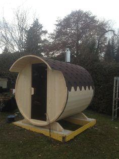 Diy Sauna, Indoor Outdoor, Barrel, Woodworking, Barrel Roll, Barrels, Carpentry, Wood Working, Woodwork