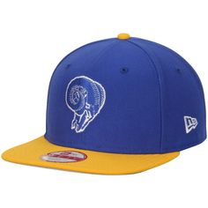 Men s Los Angeles Rams New Era Royal Gold 9FIFTY Snapback Adjustable Hat a1ac8a907987