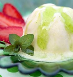 Mint Basil Syrup - a fabulous dessert topping but you need to check out all the other ways to use it! Fresh Mint, Fresh Fruit, Vegan Gluten Free, Vegan Vegetarian, Salad Sauce, Whipped Cream, Ice Cream, Fresh Herbs, Holiday Recipes