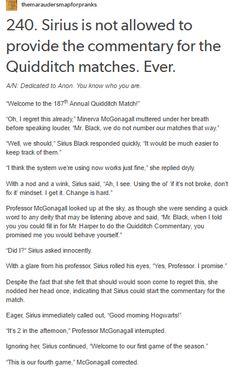 - The Marauders and McGonagall - Quidditch part 1/5