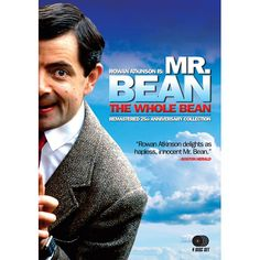 Mr Bean: The Whole Bean Remastered 25th Anniversary Collection DVD   Starring award winning British comedy genius, Rowan Atkinson (Blackadder , Johnny English ), the internationally acclaimed Mr. Bean TV series and two box office hit films continue to enthrall audiences worldwide and maintain his universal popularity.  Remastered and included in this DVD set are all 14 episodes of the landmark original series that introduced Mr. Bean to an adoring, slap-stick awkward, world! Re-live the…