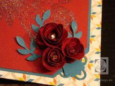 Mini Ordner Blumen aus Wellenkreisstanze Stampin  Up  SU