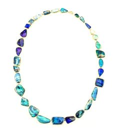 Irene Neuwirth Mixed Stone Necklace - Blue Opal Necklace