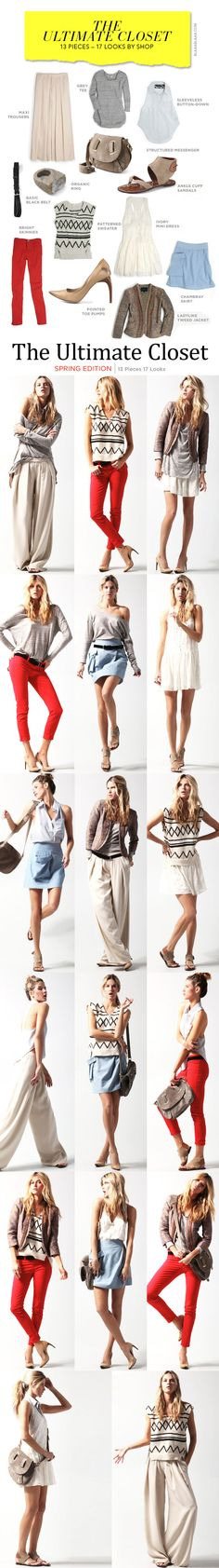 Great little guide for simple styling!    The Ultimate Closet: 13 Pieces – 17 Looks von shopbop
