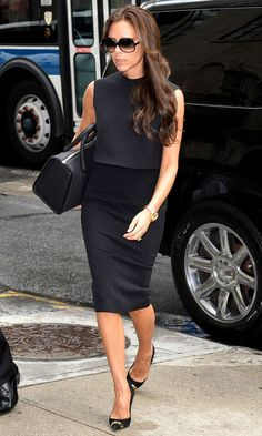 Victoria Beckham in Saint Laurent in New York