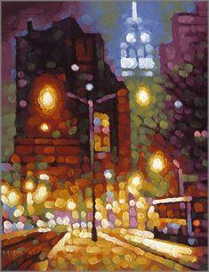 Artist Miro Sinovcic. Amazing cityscape artwork.