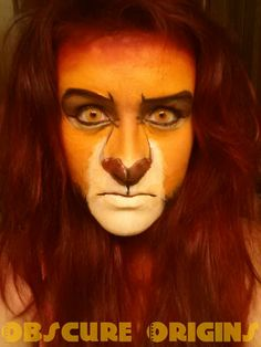 Mufasa Makeup (Lion King). Check out more of my work at www.facebook.com/ObscureOrigins