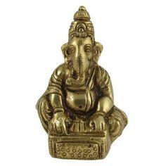 Amazon.com: Brass Statue Sitting Hindu God Musical Ganesha 2.25 x 1.75 x 3.25 Inches: Home & Kitchen