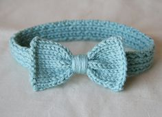 KNIT For Baby Bow Headband One choose size by BrightsideStudio