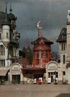 Albert Kahn Paris photography color  Leon Gimpel, Stephane Passet, Georges Chevalier y Auguste Leon - París 1914 #photograpy #vintage