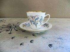 Tea Cup Porsgrund  Tea Cup Floral Teacup by VintageShoppingSpree