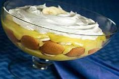 Quick Banana Pudding recipe...Ok, I'm not as precise as the recipe is. Just layer the ingredients until you end with the pudding mix(it looks pretty in a glass bowl). I like to crush more vanilla wafers to sprinkle on top.