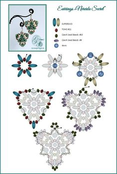 NEREIDA SECRET Earrings - FREE Pattern by MoonPerl. Page 2 of 2
