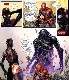 Spider-Man in one page for Free Marvel Heroes, Marvel Comics, Sara Pichelli, Miles Morales, Green Goblin, Spiderman, Fan Art, Superhero, Movie Posters