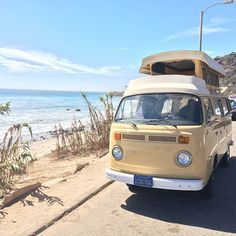 #Volkswagen #Bus in the sun! #RoadTrip #BeachDay #VW #Travel #Adventure #Wanderlust