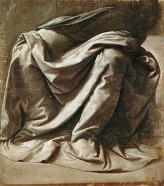 Study of Drapery,?. Museo del Louvre,Paris.