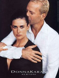 Bruce and Demi for Donna Karan 90's