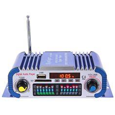 ハイファイカーステレオパワーアンプサウンドモードステレオ12ボルトデジタルオートledオーディオ音楽プレーヤーサポートusb mp3 dvd sd fm