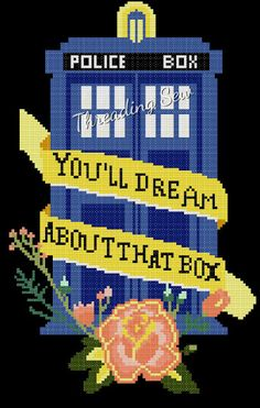 Counted Cross Stitch Pattern Doctor Who Tardis by threadingsew