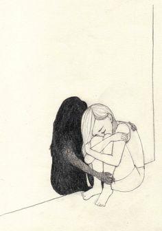 Drawing sad girl with pencil, easy - Trend Sister Quotes 2019 Sad Drawings, Dark Art Drawings, Pencil Art Drawings, Drawing Sketches, Tumblr Drawings Easy, Drawing Ideas, Art Inspo, Inspiration Art, Art Noir