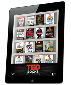 TED Books - site states - Shorter than a novel, but longer than an article -- a TED Book is a great way to feed your craving for ideas anytime. A TED Book is to a book as a TEDTalk is to a lecture: It's shorter and more personal, more direct and engaging. And the new TED Books app (coming soon) lets our authors blend their words with multimedia extras that enhance your understanding. Look for rich images, audio, video and social features.