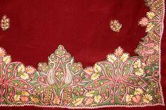 Embroidery of Jammu & Kashmir Modern Embroidery, Beaded Embroidery, Kashida Embroidery, Kashmiri Shawls, Ottoman Design, Pashmina Shawl, Chain Stitch, Textile Art, Embroidery