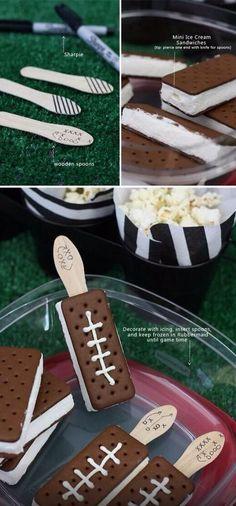 Ice cream football sandwiches!