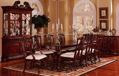 Cherry wood floors living room dining tables 36 new ideas Dining Table In Living Room, Living Room Wood Floor, Wood Floor Kitchen, Rugs In Living Room, Dining Tables, Cherry Wood Furniture, Dining Room Furniture, Antique Furniture, Painting Wood Trim