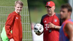 1. Bayern-Training   Ancelotti-Auftakt mit kleinem Götze - Trainingsende! - Bundesliga Saison 2015/16 - Bild.de