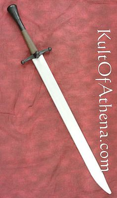 Rawlings Synthetic Sparring Langes Messer - Silver Blade --$60 -- Molded from high-impact polymer plastic, for rigorous and safer sparring. The Langes Messer, simply meaning ''long knife'' in German, was a popular late medieval and Renaissance sword in central Europe