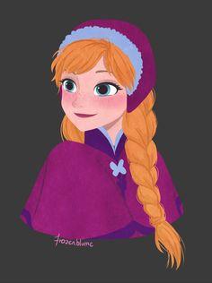 Anna by frozenblume #frozen #disney #fanart