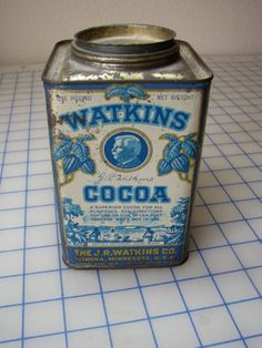 Antique Watkins Cocoa Tin - J. R. Watkins Co. $28.00, via Etsy.