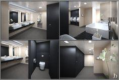 Commercial restrooms - doors