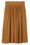 Your new midi skirt of the season, in all natural viscose—great length, great fall, great style.  colour: sand In a size small the chest width is71 cm and the length is69 cm. The model is 174 cm and is wearing a size small.