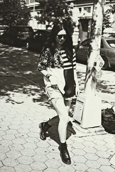 Dylana from Color Me Nana in the Serena 8 Eye Boot by Dr. Martens (http://www.nastygal.com/product/serena-8-eye-boot/)