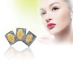 10ピース女性レディ唇ケアゴールド抗しわ修理セクシーな結晶膜コラーゲンモイスチャーエッセンスリップパッドマスクシートパッチ