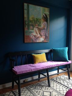 11 Wonderfully Weird Color Combos that Work: Lavender (or is it orchid?), turquoise, gold, & navy. Love.