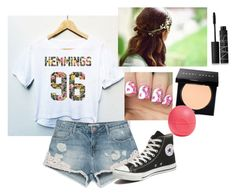 """5sos #2"" by mayarose1704 ❤ liked on Polyvore featuring Zara, Converse, Bobbi Brown Cosmetics, Eos and NARS Cosmetics"