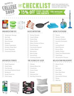 Ultimate back to college checklist + 15% off everything through Sept. 30th