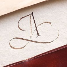 Calligraphy letter A with swirls Copperplate Calligraphy, Calligraphy Words, How To Write Calligraphy, Calligraphy Handwriting, Modern Calligraphy, Penmanship, Cursive, Hand Lettering Alphabet, Typography Letters
