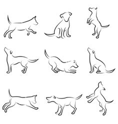 Dog and cat vector 250754 - by jackrust on VectorStock®