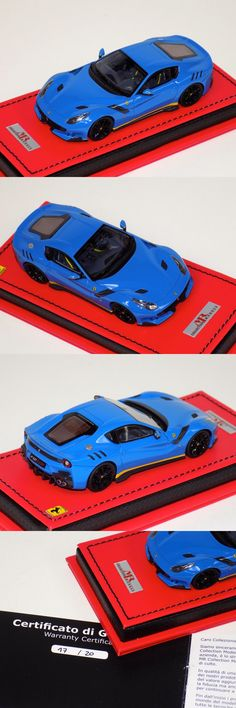 Contemporary Manufacture 180533: 1 43 Mr Collection Ferrari F12 Tdf In Blue With Black Wheels Leather Base -> BUY IT NOW ONLY: $299.95 on eBay!