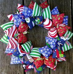 Wonderful Winter Wonderland Door Decor Wreath for the Holidays | SooBoo - on ArtFire