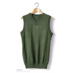 Adult Knit V-Neck Vest