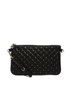 Mango Quilted & Studded Small Across Body Bag